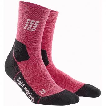 CEP Outdoor Light Merino Mid Cut  Socks Wild-Berry Women