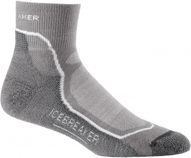 Icebreaker Hike + Lite Mini  Socks Fossil/White/Monsoon Men