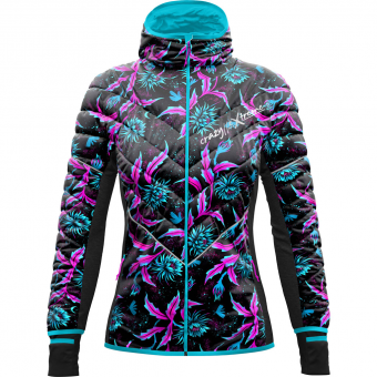 Please Crazy Damen Daunenjacke Idea Night Flower gbfIY67yv