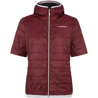 La Sportiva Glow Short Sleeve  Insulation Jacket Wine  Women