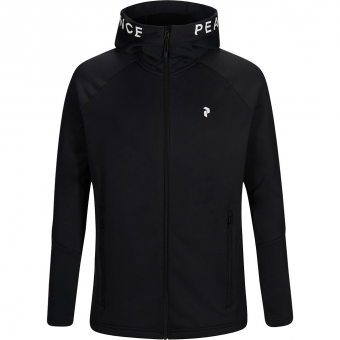 Peak Performance Rider Zip Hood  Fleecejacke Black Herren
