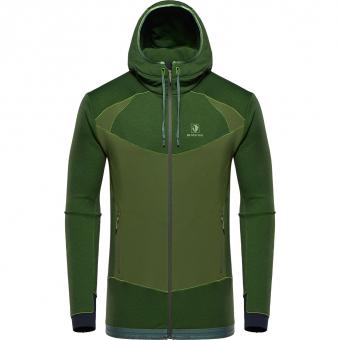 Black Yak Betizu Hoody  Fleece Jacket Twist of Lime Men
