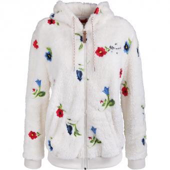 Alprausch Michelle Belle Zip  Hoodie Snow White Flower Damen