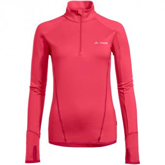 Vaude Livigno Halfzip  Langarmshirt Bright Pink Damen