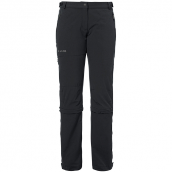 Vaude Farley Stretch Capri  Zip-Off Hose Black Damen