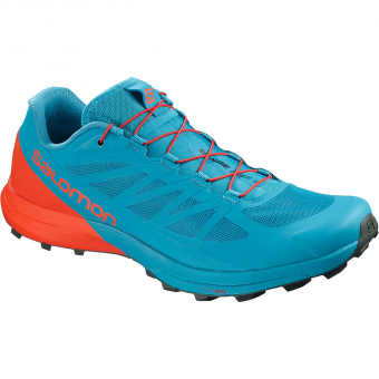Salomon Sense Pro 3 Running Shoes Fjord Blue / Cherry Tomato / Urban Chic Men
