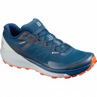Salomon Sense Ride 3 GTX invisible fit Runningschuh Poseidon / Pearl Blue / Cherry Tomato Herren