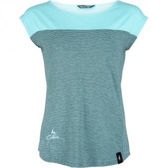 Chillaz Biella Deer Logo T-Shirt Light Blue Damen