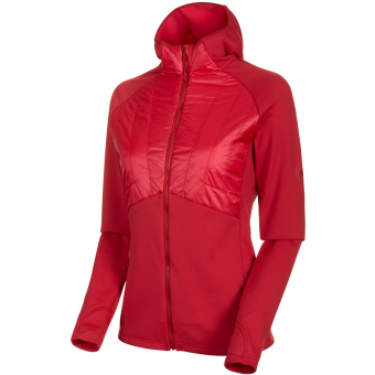Mammut Aconcagua Light Hybrid ML Hooded Fleecejacke Dragon Fruit Damen