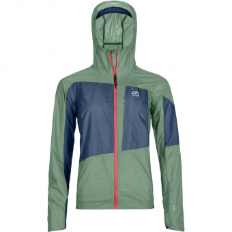 Ortovox Merino Windbreaker Green Isar Damen