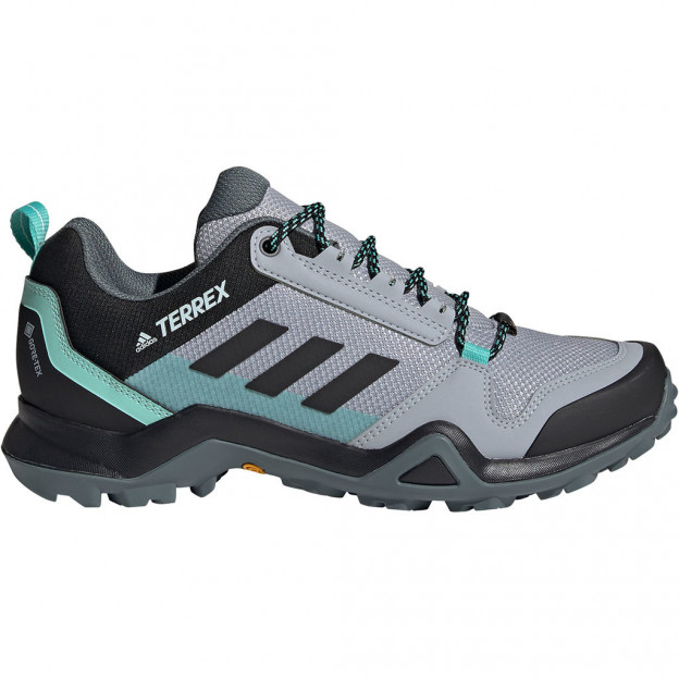 Adidas Terrex AX3 GTX Approach Shoes Halo Silver / Core Black / Acid Mint Women