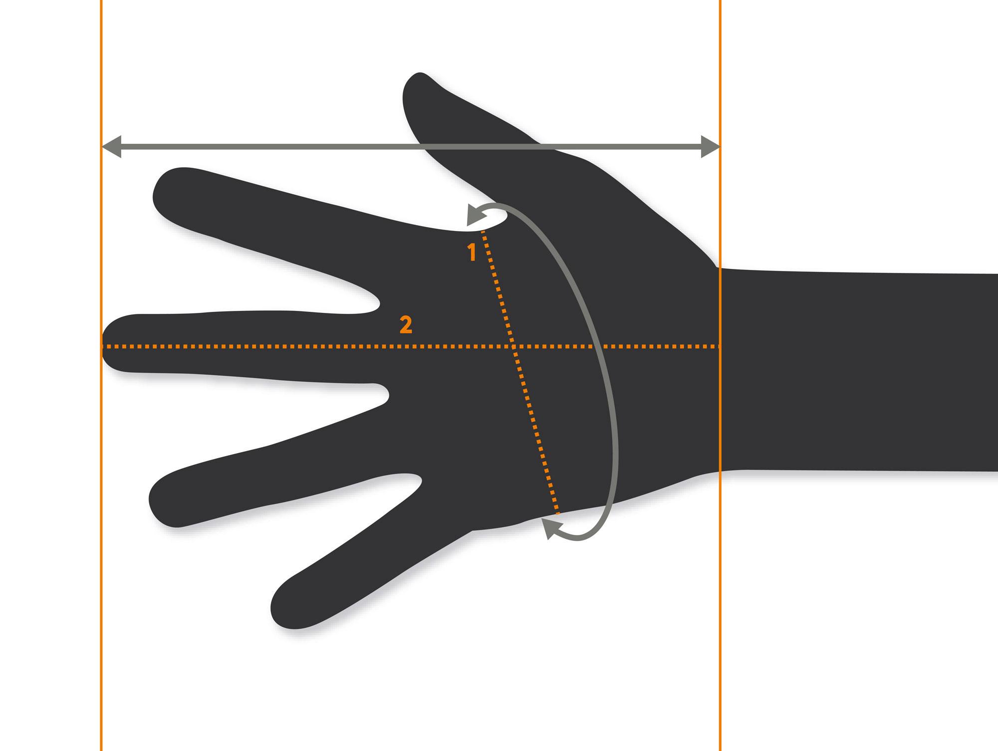 Hestra Size Chart 1 Hand Cirference Mm 2 Lenght Men Women Kids