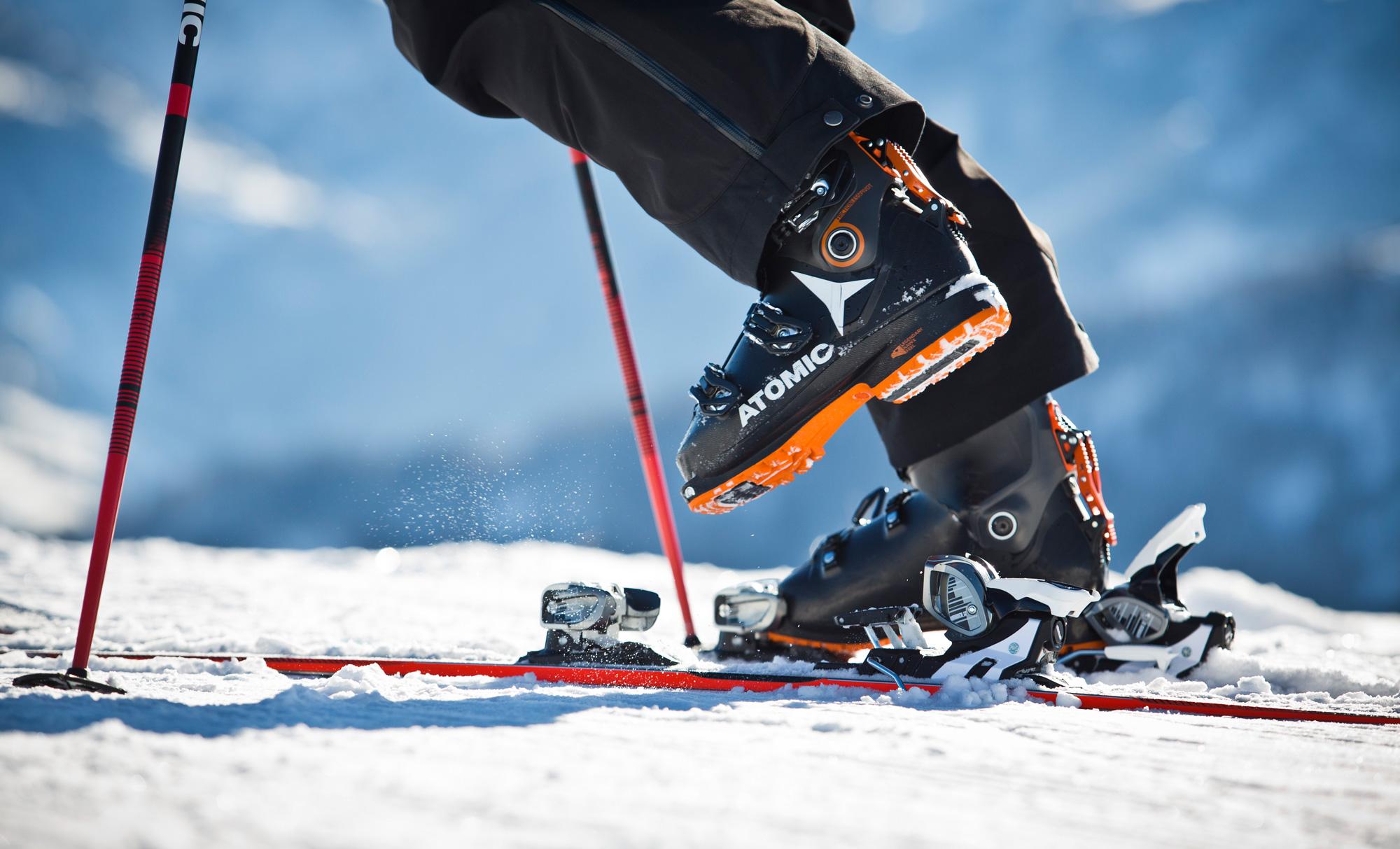Einsteigen in Alpinbindung