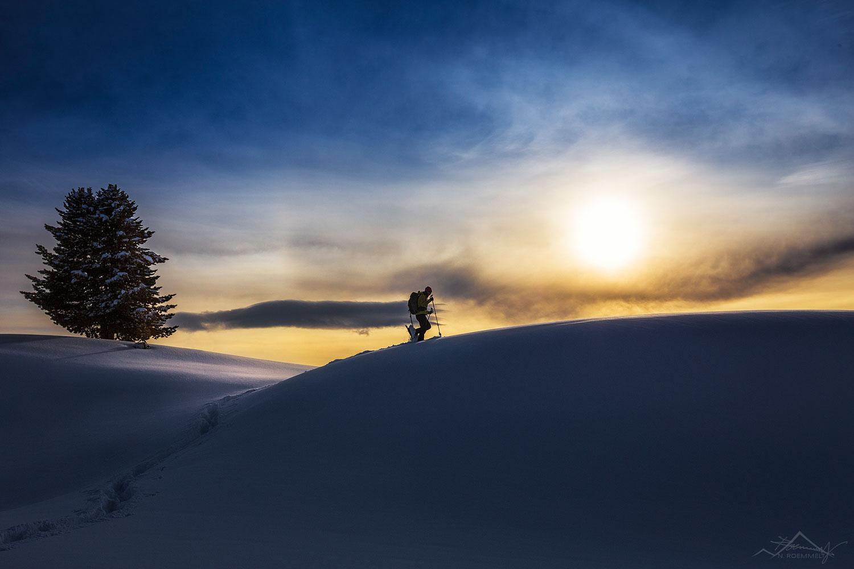Wandern im Morgengrauen