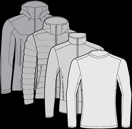 layering system ski jackets