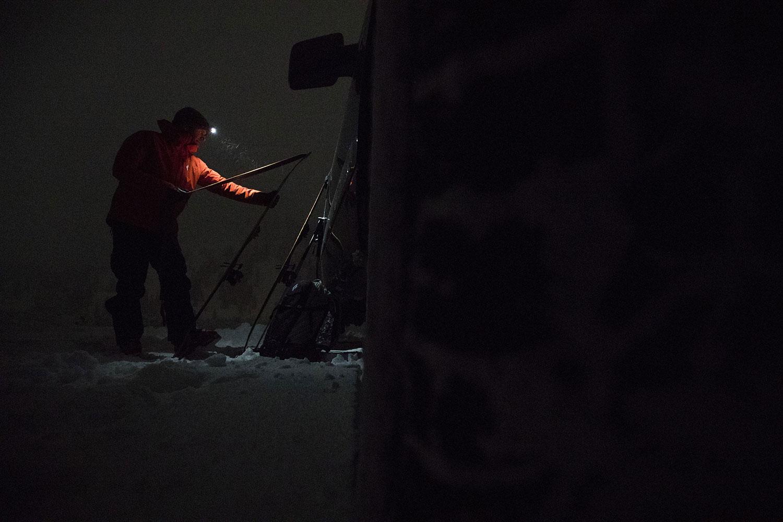 ski touring climbing skin