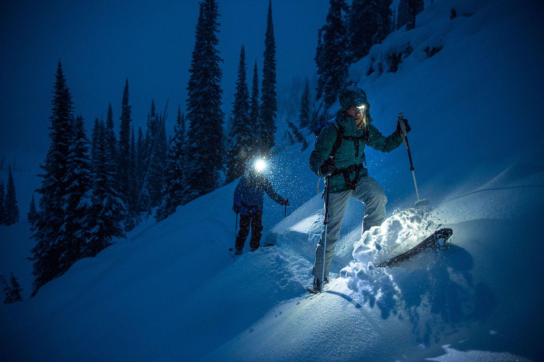 Skitour am Abend