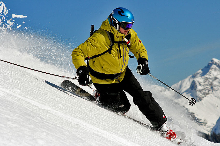 Wearing your telemark boot