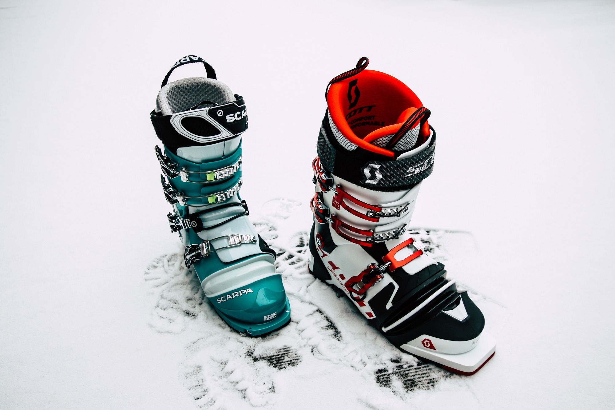 Telemark boots compared