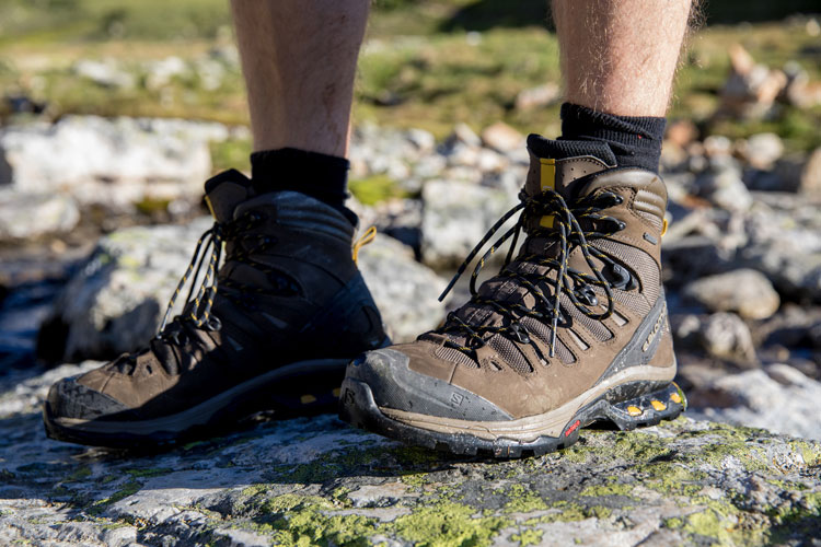 Hiking boots close-up