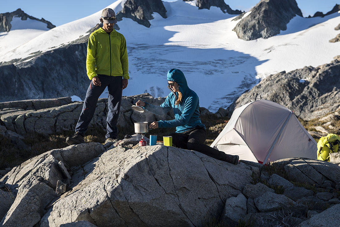 Breakfast by the tent