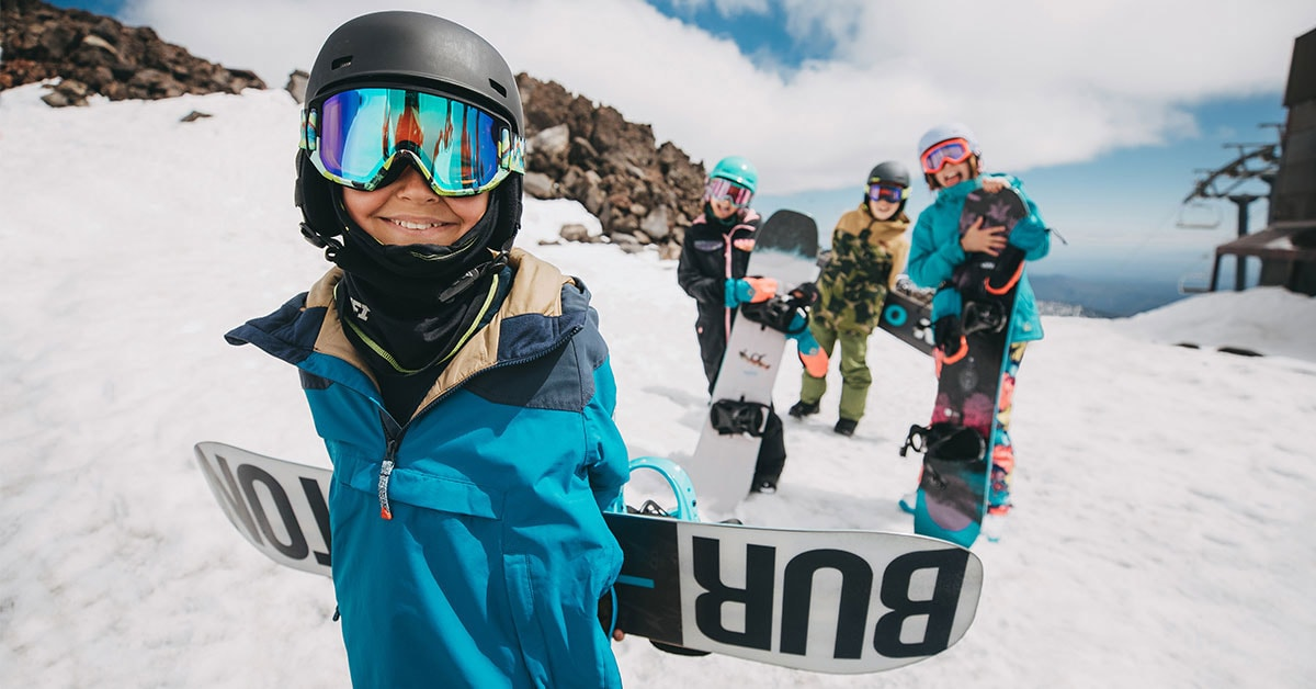 Kids und Snowboards