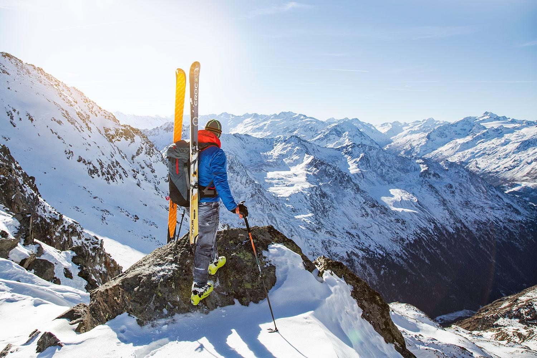 Kohlafell auf Ski