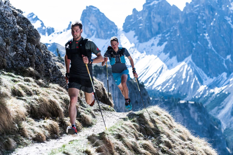 Trailrunning mit Stöcken