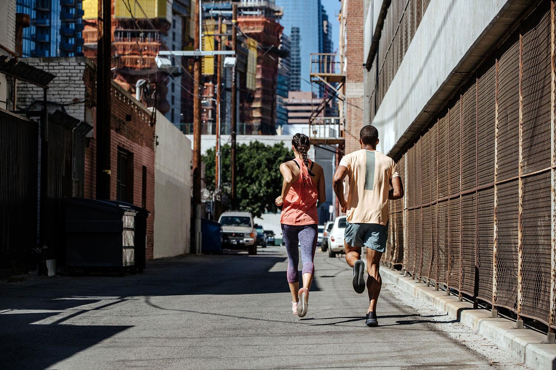 Laufen in der Stadt