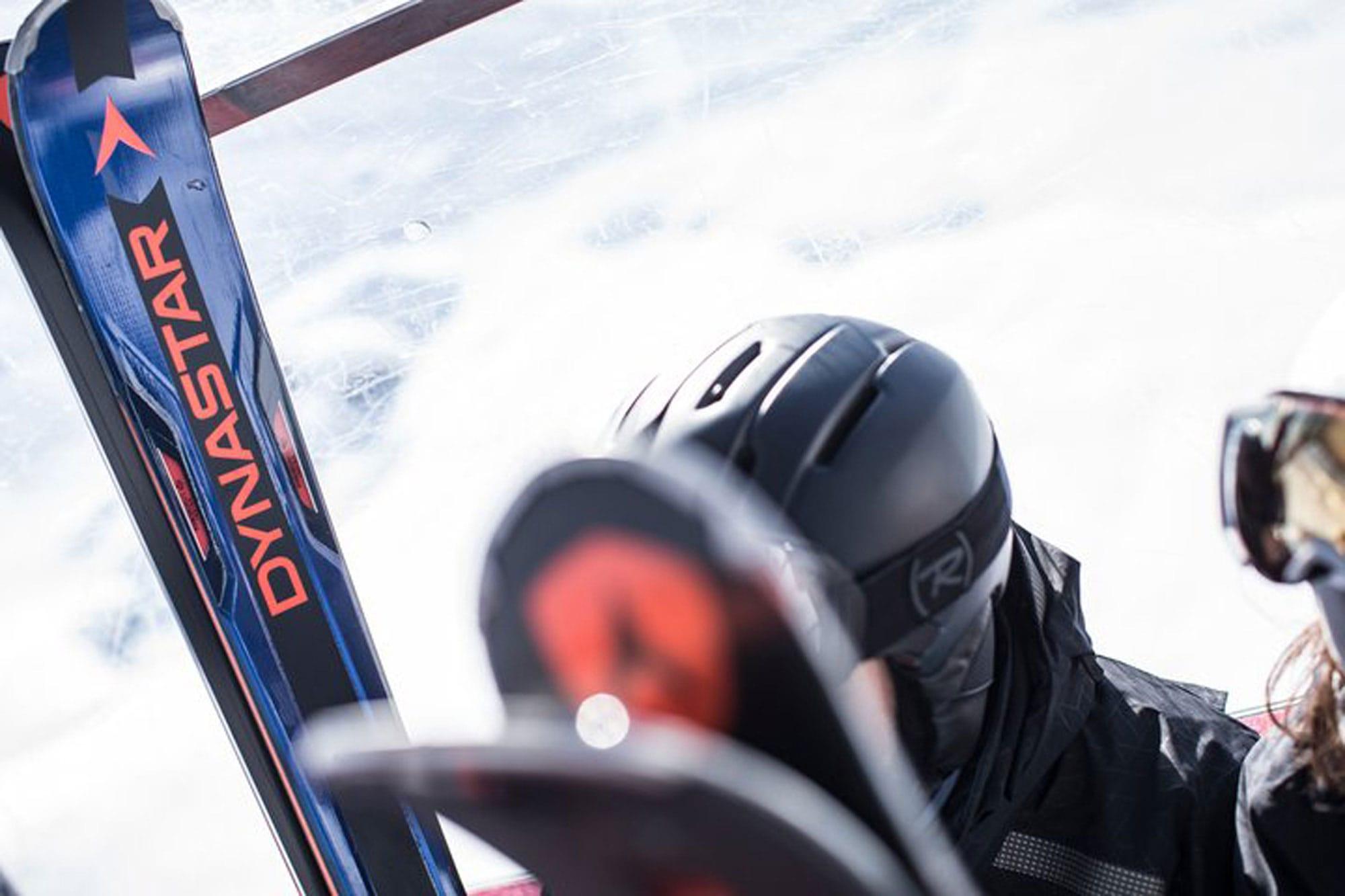 Dynastar Ski in der Gondel