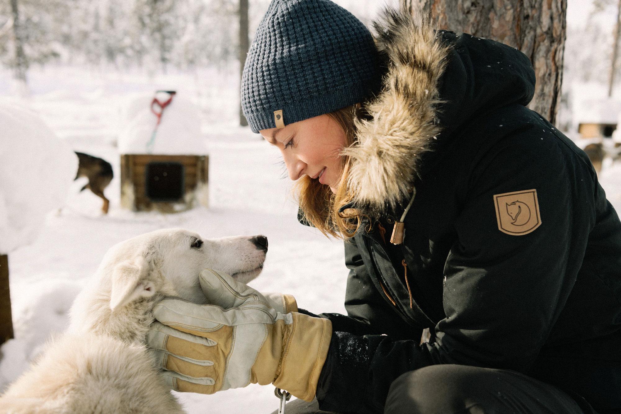 Hund mit Besitzerin