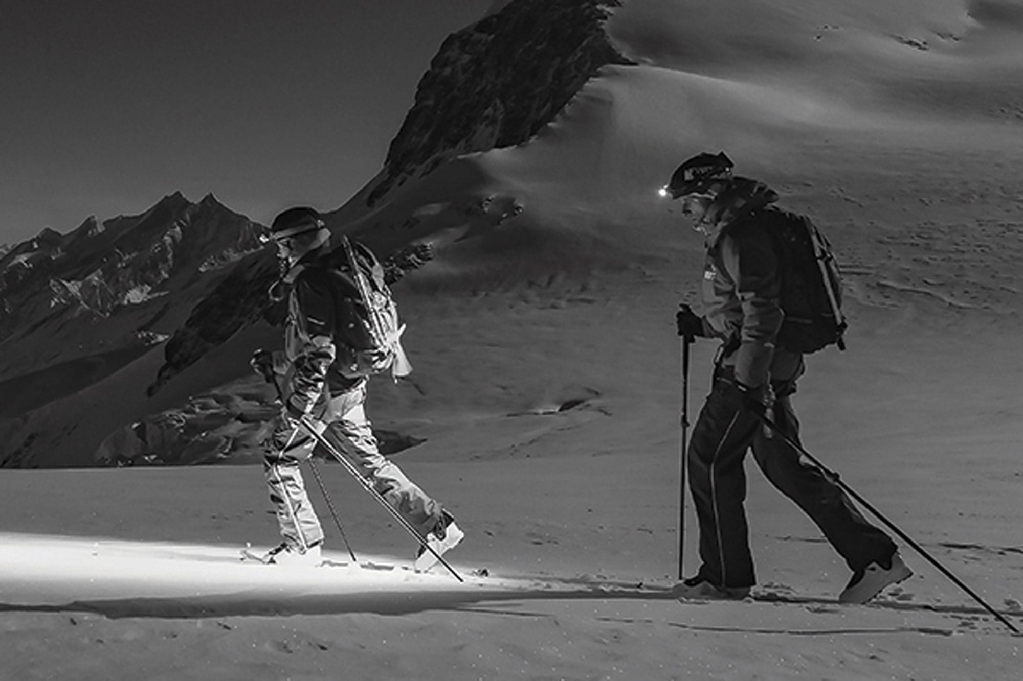 Skitour im Dunkeln