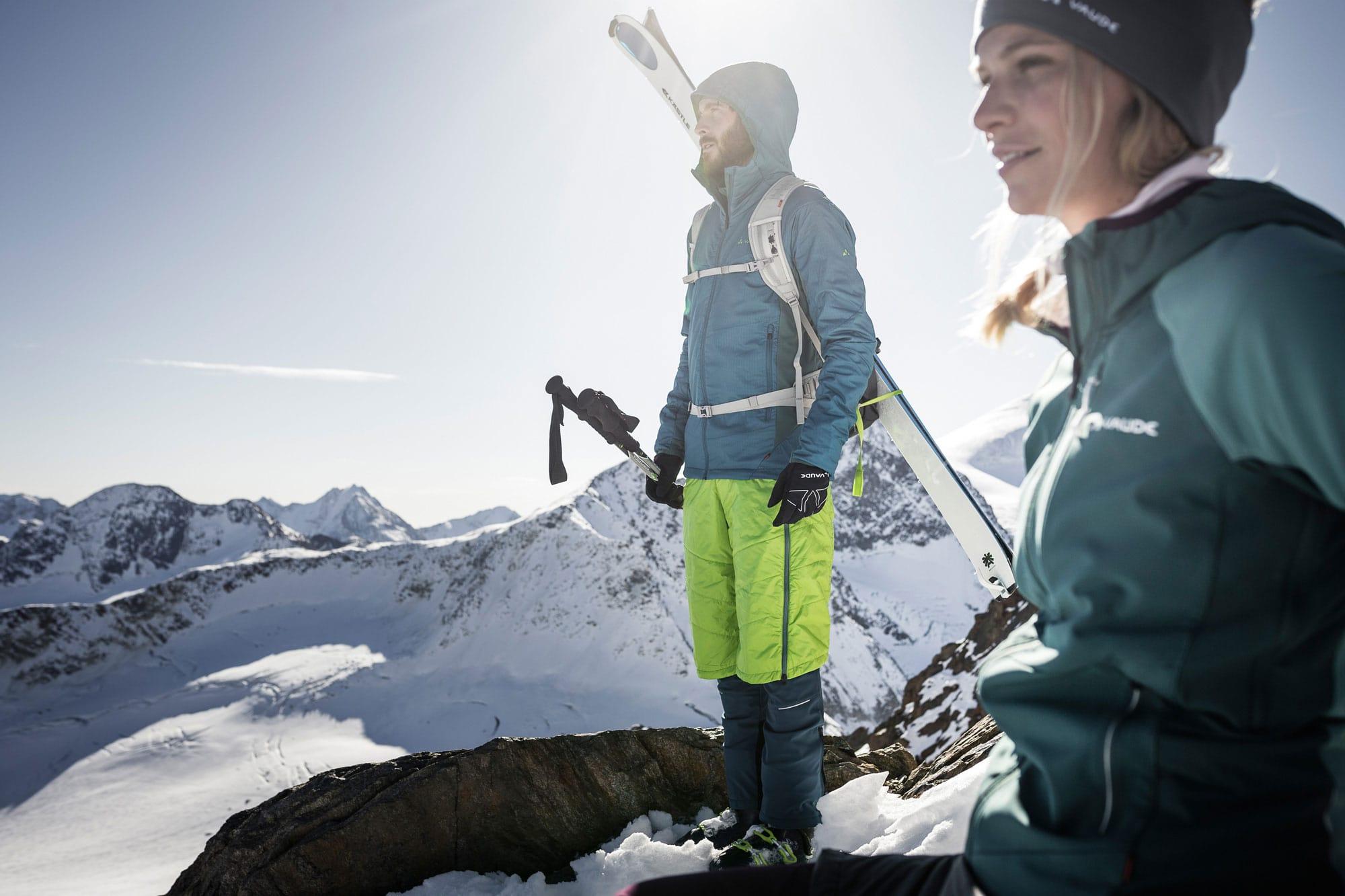 Vaude in the snow on the summit