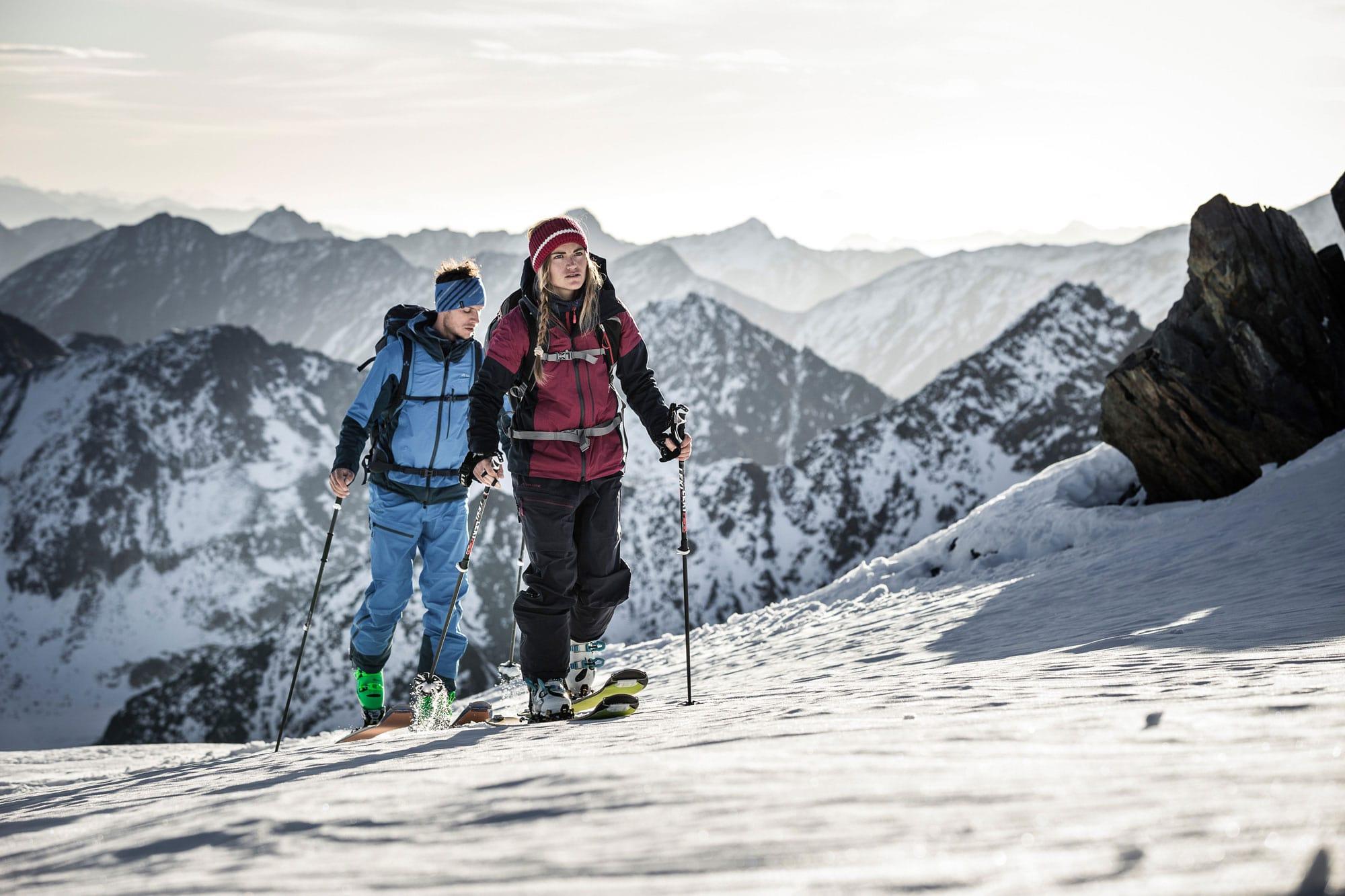 Ski tour ascent